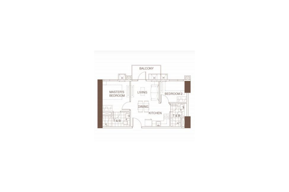 Condominium 2 Bedroom - Azalea Place in Cebu