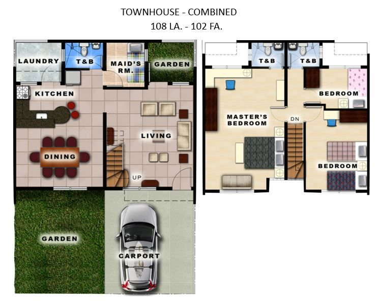House and Lot Townhouse for Sale at Theresa Heights Metro Manila Hills, Rodriguez, Rizal in Rodriguez