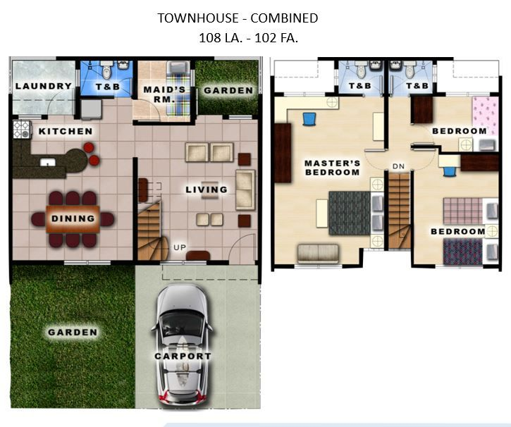 House and Lot Townhouse for Sale, Residencias De Francesca in Metro Manila Hills, Rizal in Rodriguez