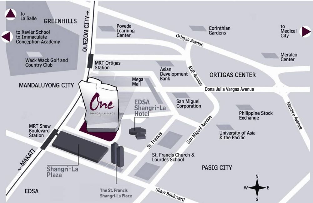 Condominium One Shangri-La Place in Mandaluyong