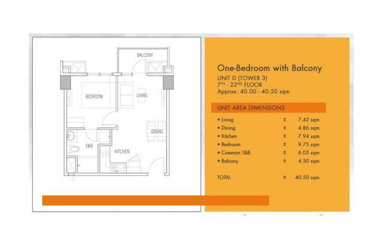 Condominium 1 Bedroom - Galleria Residences in Cebu