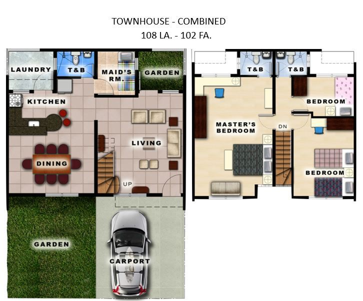 House and Lot Townhouse for Sale at Victoria Villas Metro Manila Hills, Rodriguez, Rizal in Rodriguez
