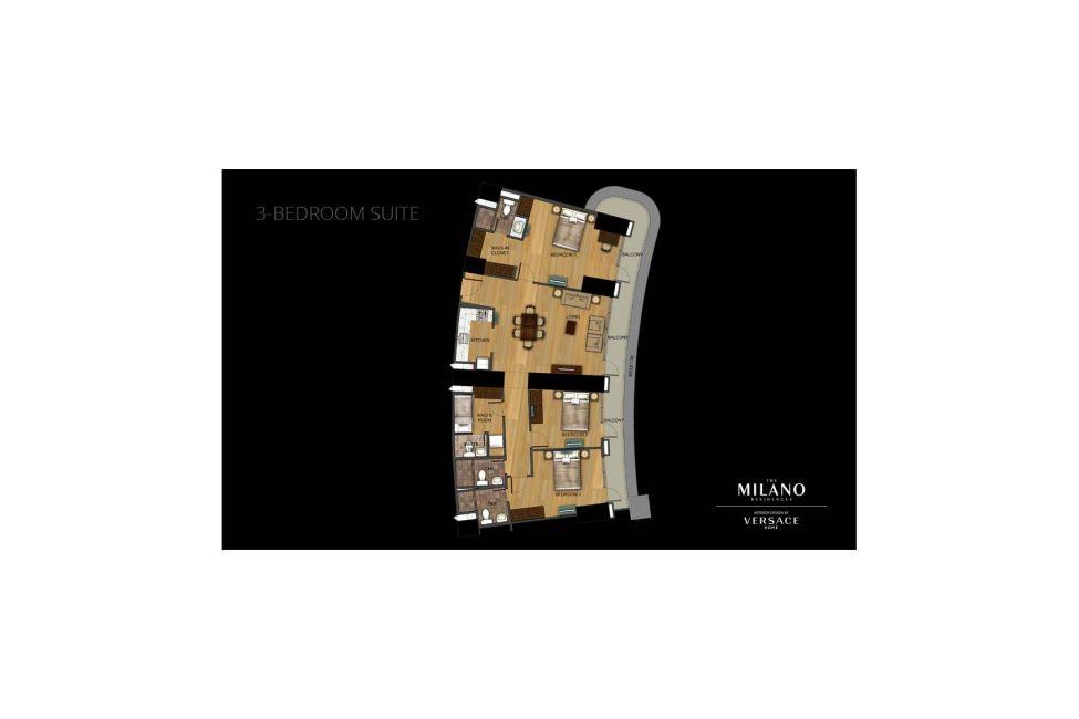 Condominium 3 Bedroom Unit in The Milano Residences in Makati