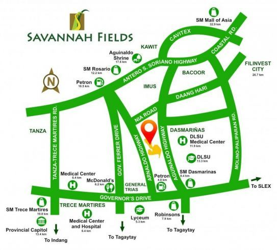 House and Lot Savannah Fields in General Trias