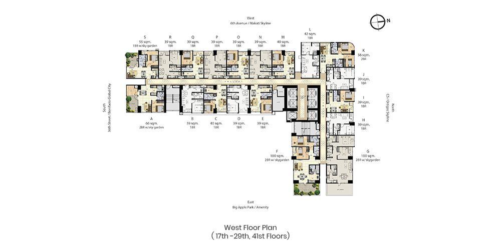 Condominium Time Square West in Taguig
