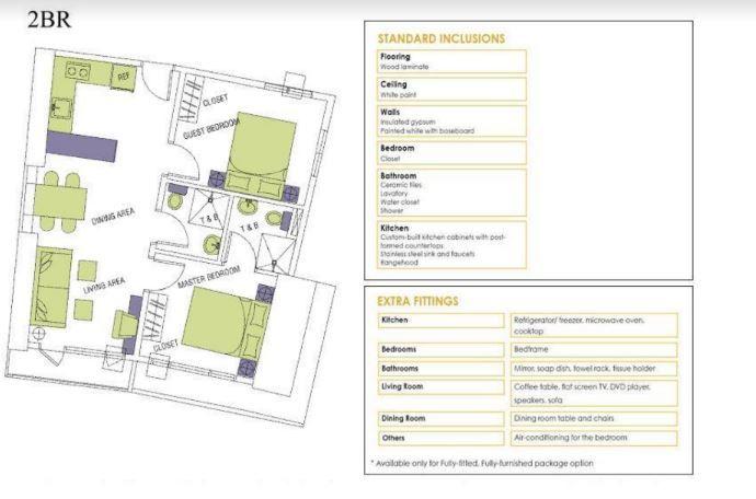 Condominium RFO 2 Bedroom unit for sale in Makati - Knightsbridge Residences in Makati