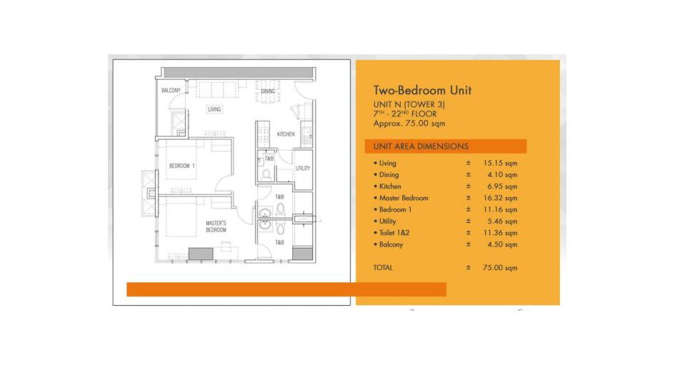 Condominium 2 Bedroom - Galleria Residences in Cebu